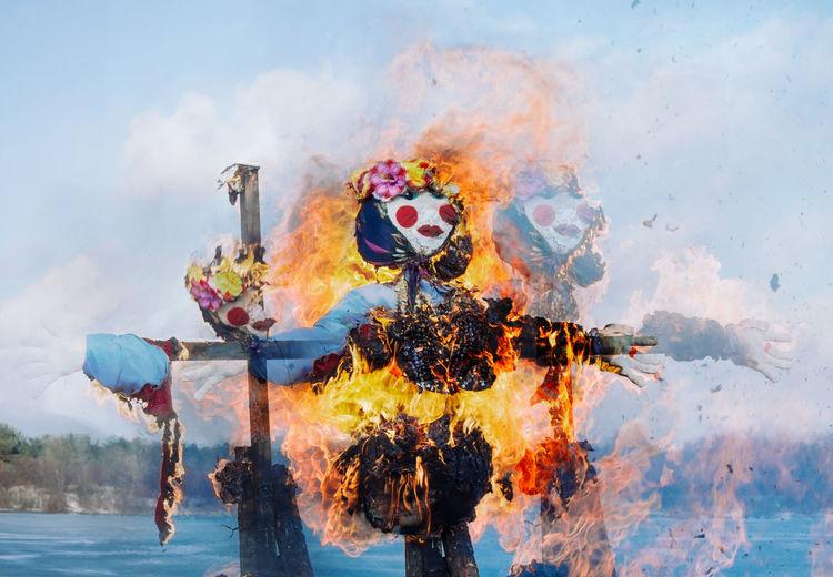 Scarecrow burning