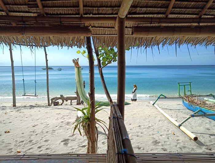 Nipah beach,Lombok,Indonesia INDONESIA Tourist Earthquake Lombok-Indonesia Full Length Men Sky Horizon Over Water Ocean