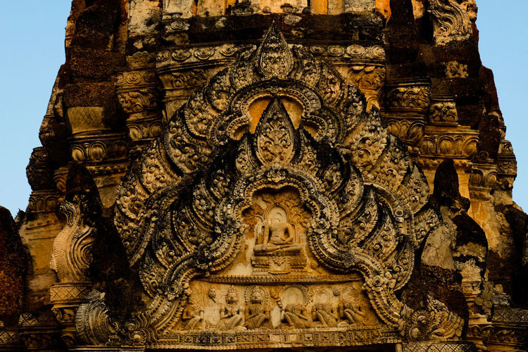 Religion Sculpture No People Architecture Outdoors Close-up Cultures Day Spirituality Thailand Sukhothai History Archaeological Sites Architecture Archaeology Thailand_allshots