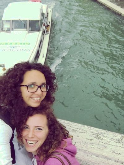 CurlyGirls Freindship Happy Looking At Camera Outdoors Portrait Sisters ❤ Smiling Togetherness Us Venezia Walkaround