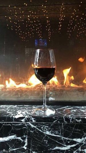 Wine Moments Red Wine Winter Indoor Chimney Wineglass Close-up Indoors  Enjoying Life