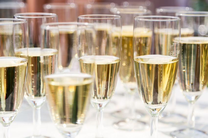 champagne glasses Beverage Champagne Empfang Event Getränk Sektglas Alcohol Champagne Champagne Flute Champagne Glass Drink Food And Drink Gastronomy In A Row Luxury No People Prosecco Refreshment Sektempfang Sektflöte Sektgläser Wine Wineglass