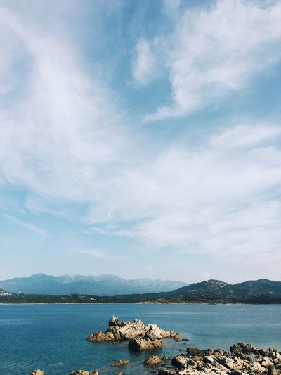 Corsica Ocean Blue Sky Sky Cloud Copyspace Blank Space Blue Landscape Europe Corse Corsica Water Sky Cloud - Sky Beauty In Nature Nature Tranquility Scenics - Nature Sea Tranquil Scene Day Mountain No People Non-urban Scene Waterfront Outdoors