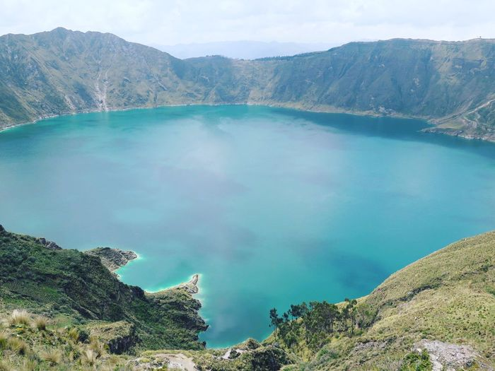 Lovely Weather Peace And Quiet Ecuador Traveling Nature EyeEm Best Shots Travel EyeEm Nature Lover Volcano Crater Crater Lake Water Turquoise Water Turquoise Eye4photography  Lagoon Lake Lake View Lagoon Water South America This Is Latin America