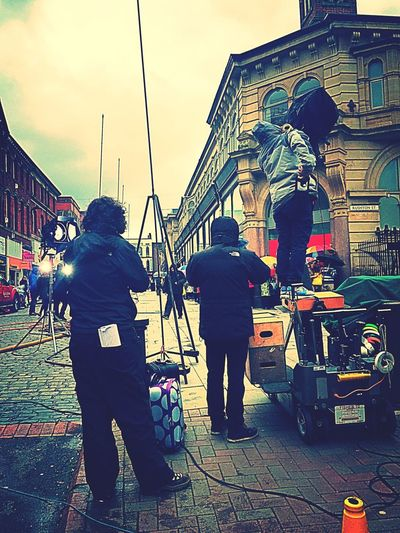 Shooting Day CreativityEveryday Advertising Agency Creativity Advertising Film Set Peoplescreatives Action Barclays Shooting Camera Man United Kingdom Film Shooting Ready Steady Go! Actors People Acting... Up Close Street Photography Camera Lights Actioncamera Director DirectorNTheMaking Up Close Street Photograhy Up Close Street Photography