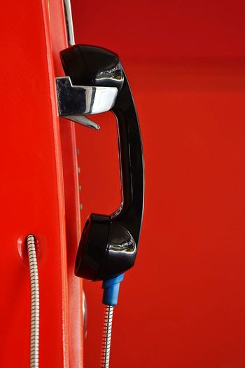 Close-up of telephone receiver