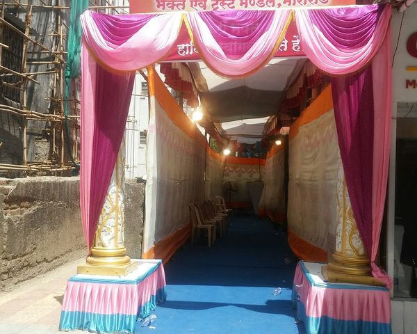 Tent Mandap Chairs Colourful