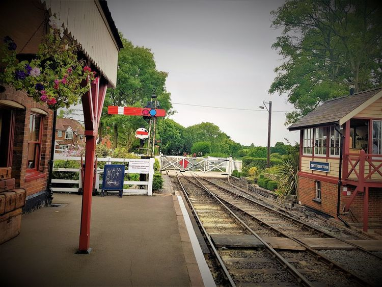 Tenterden Town Station K&ESR 2017 2017 2017 Year England, UK Great Britain K&ESR K&ESR Railway Steam Railways The Rother Valley Railway Travel Photography United Kingdom Architecture Building Exterior Built Structure Day Kent England No People Outdoors Public Transportation Rail Transportation Railroad Track Roof Sky Transportation Travelphotography Tree