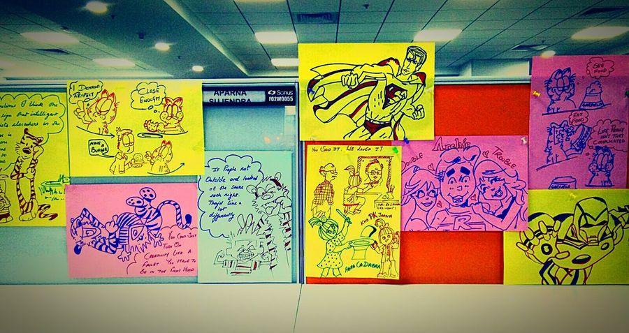World of my art Comics ArtWork Wall Art Sketches Sketch Art Handmade Superman Calvin And Hobbes Ironman Showcase March Taking Photos Eyem Gallery Archies GarfieldPainting