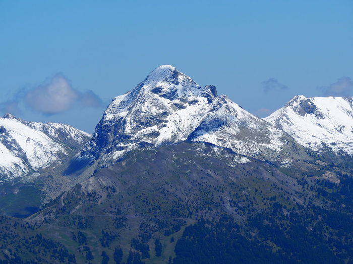 Yesterday's hike in Queyras (France). The day before (July the 15th), there was snowing a lot on border mountains with Italy. Tête de Pelvas, view from Mount Agrenier. Mountain Snow Scenics - Nature Beauty In Nature Mountain Range Snowcapped Mountain Landscape Mountain Peak Nature
