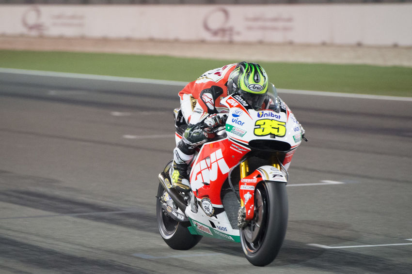 MotoGP riders during the final preseason test before the start of the 2016 MotoGP season CalCrutchlow Losail LosailCircuit Motogp MotoGP2016 Motorcycle Motorsports Preseason Qatar Race Racing Test
