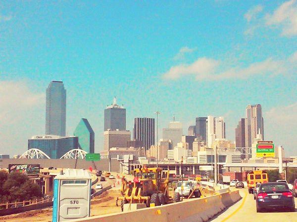Dallas Texas Skyscrapers Downtown Construction Traffic Beautiful City Architecture Downtown Dallas, Texas