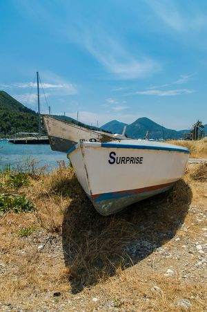 One boat was stuck in the top of this boat, not sure if they named it before or after! Lefkas Holiday Holiday POV Greece Surprise Boats Landscape_Collection Eye4photography  EyeEm Best Shots Water_collection
