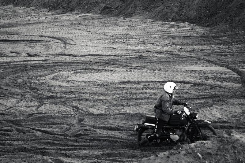 Man riding on motorbike