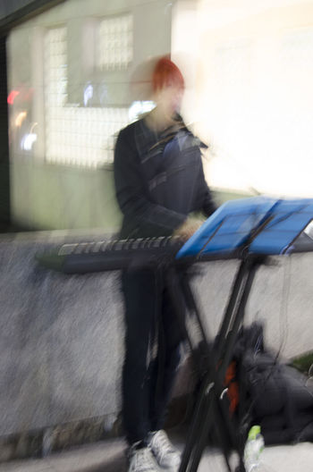 The Piano Man Check This Out Hanging Out Japan Japan Photography Nightshot Japanese Culture Street Photography Street Scene Portrait Impressionism Blur Kyoto