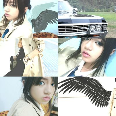 Another aesthetic collage for a fave character. Did a cosplay trial for genderbent Castiel from supernatural. I wish I can do actual Castiel but I can only pass females and teenage boys for cosplays. Oh how I wish to be bara Supernatural Castiel Genderbend Cosplay