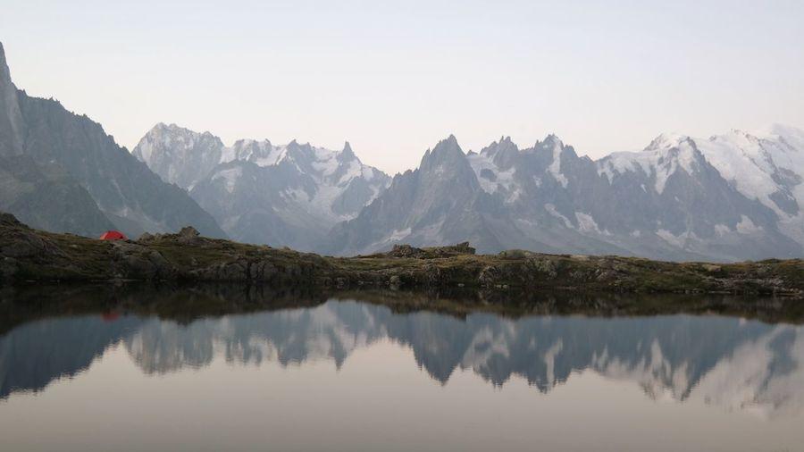 Mountains Lake Water Reflections Reflection Lake View Lakes  Altitude Good Morning Montblanc