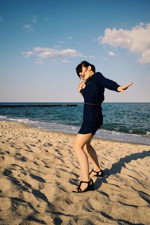 Beach Beach Life Beach Photography Beachphotography Casual Clothing Dancing Girl Dancing Woman Hat Leisure Activity Lifestyles Person Sand Sea Sky Smile Sunlight Tina Rips Tinarips Woman Hat Woman In Hat Woman In Hat Shadow Wooman Wooman Portrait Young Adult Uniqueness