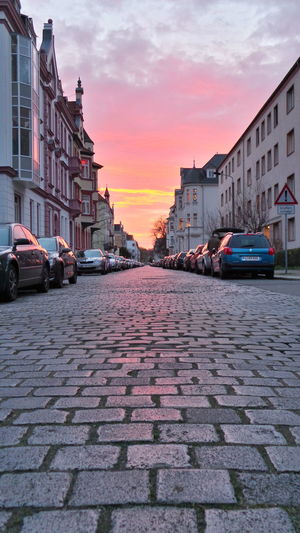 Abend City Clouds And Sky Evening Himmel Leipzig Paving Paving Stone Perspective Pflasterstein Residential District Sky Sky And Clouds Stadt Straße Street Streetphotography Urban Wege Und Strassen