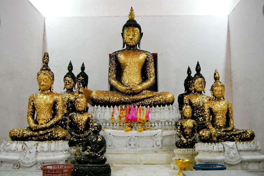 Gold Buddha statue in temple Religion Buddha Place Of Worship Sculpture Statue Gold Colored Art Indoors  Gold Temple - Building Culture Idol Spirituality Gilded Buddhism Buddhist Thailand