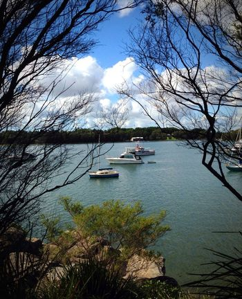 Boats in Iron Cove, Sydney using ProCamera 7 app and iPhone5. Enjoying The Sun