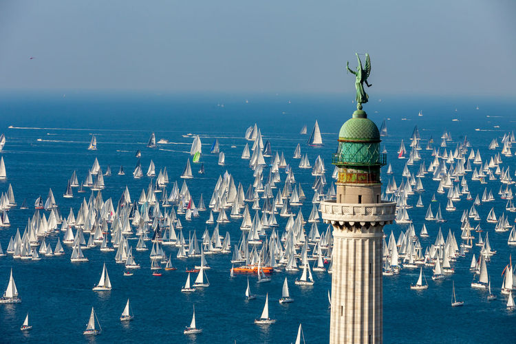 View of barcolana  world record regatta