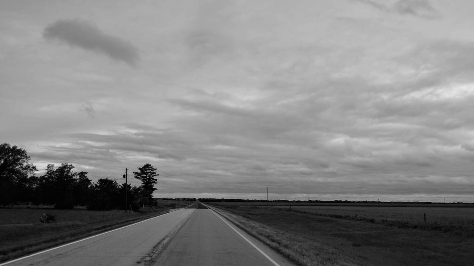 Visual Journal September 2018 Southeast Nebraska S.ramos September 2018 Visual Journal Photo Diary Always Making Photographs Camera Work Long Form Storytelling Fujifilm_xseries Rural America Photo Essay EyeEm Best Shots Getty Images Small Town Stories Eye For Photography Everyday Life FUJIFILM X100S 35mm Camera Monochrome Schwarzweiß Sky Cloud - Sky Direction The Way Forward Road Transportation Diminishing Perspective Nature No People Landscape Environment Tree Beauty In Nature Plant Day vanishing point Land Tranquility Field Outdoors Long