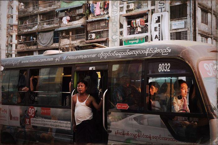 Public bus, Yangon, Myanmar