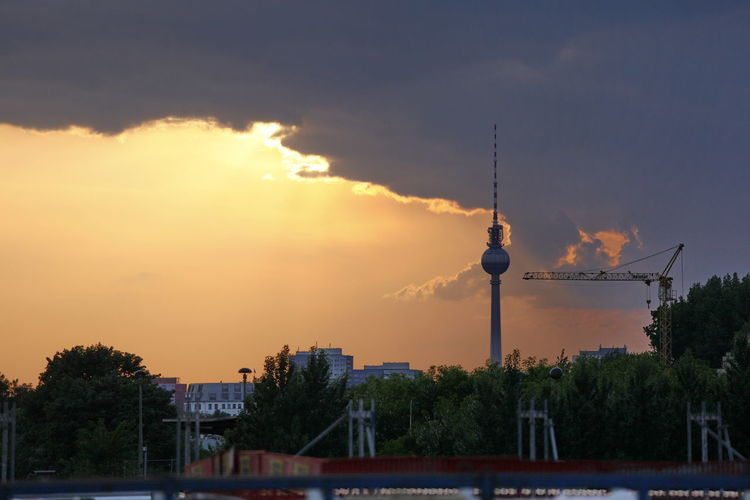 View Of Communications Tower In City