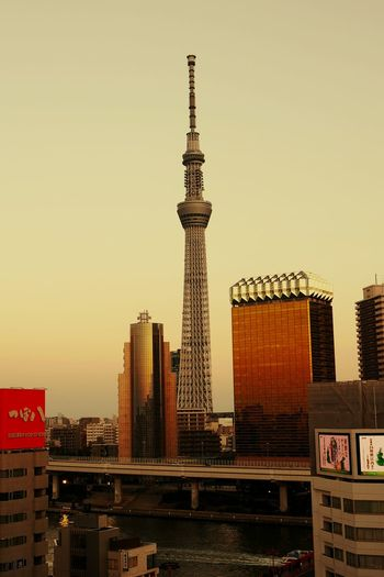 skytree tokyo japan City Skyscraper Urban Skyline Cityscape Travel Destinations Tower Travel Sky Business Finance And Industry Architecture Modern No People Sunset Outdoors Technology Downtown District Day
