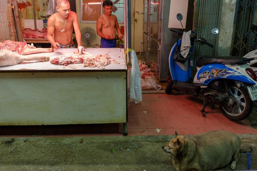 Animal Butcher Dog Everybodystreet Fat Juxtaposition Killing Market Market Stall Pork Streetphotography Streetscene Streetstyle The Street Photographer - 2017 EyeEm Awards