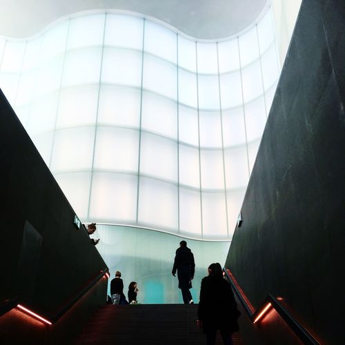 To heaven Cloud Mudec Milano Real People Indoors  Leisure Activity Built Structure Architecture Lifestyles Walking Illuminated Silhouette Women Modern Day
