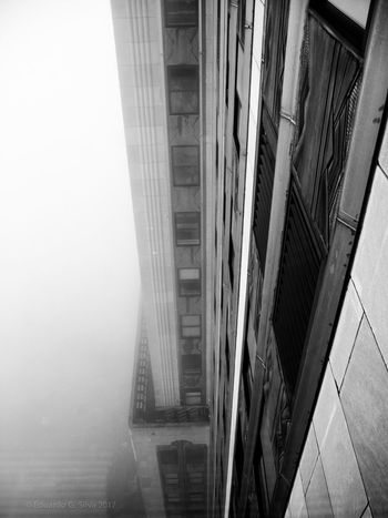 Architecture Built Structure Low Angle View New York, New York Streetphotography Weather Urbanphotography New York City Photos Manhattan Street Photography New York City New York Travel Destinations Manhattan New York Fog_collection Foggy Weather Fog Empire State Empire State Building Architecture Building Exterior New York ❤