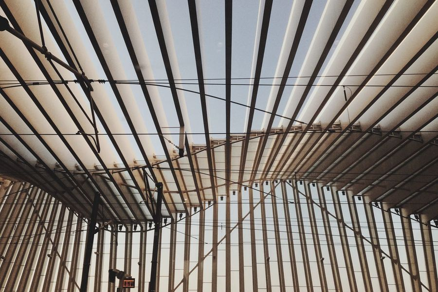 Pazzie Architecture Ceiling Built Structure Indoors  Pattern Roof No People Modern Day Close-up Picoftheday Eyeem4photography Train Station Train EyeEmNewHere EyeEm EyeEm Gallery The Architect - 2017 EyeEm Awards Let's Go. Together.
