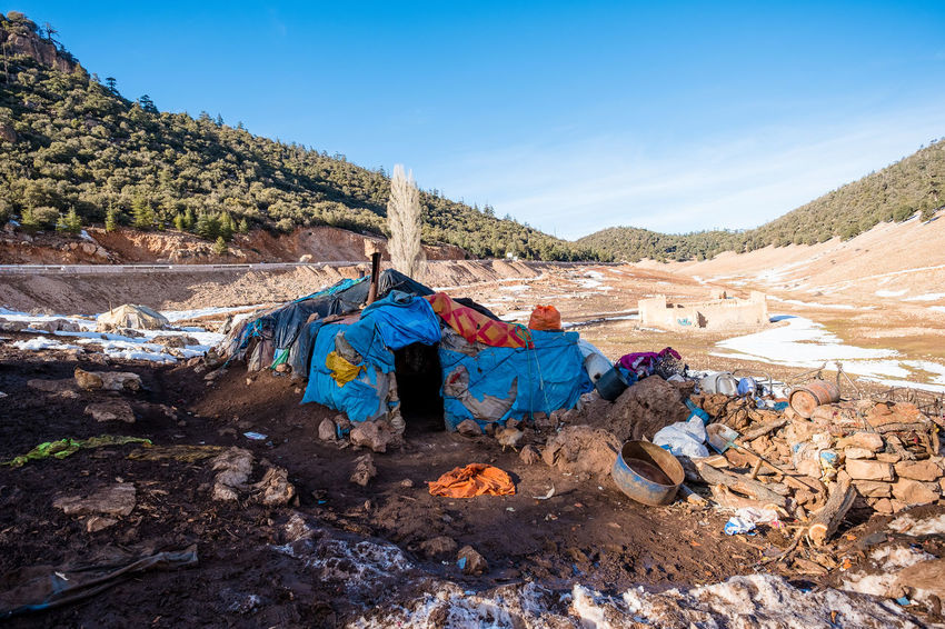 Morocco Traditional Culture Tranquility Berber  Blue Mountain Nature Nomadic Nomadic Culture Nomadic Life Nomadic Lifestyle Outdoors Sky Tent Travel Destinations