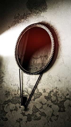 Vintage Light And Shadow Keepsakes Timeless Haunt Dark Portrait Fog_collection Vintage Art Creative Edit Mirror