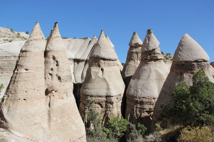 The KIOMI Collection Kasha-Katuwe Tent Rocks National Monument Tent Rocks Tents White Rocks White Rock Blue Sky Nature Photography USAtrip Nature_collection Scenic View Longing To Be Outside New Mexico USA Rock Landscapes Silence The Great Outdoors With Adobe The Great Outdoors - 2016 EyeEm Awards