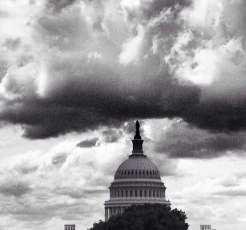 Government shutdown! Architecture Dome Sky Government Cloud - Sky Building Exterior Built Structure