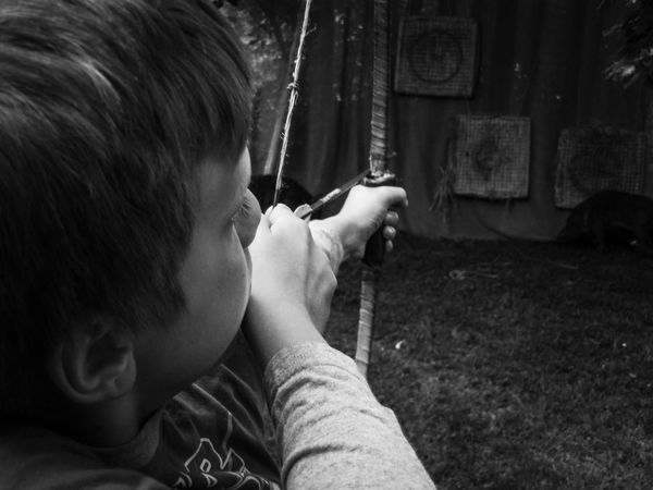 Medieval Archery Targeting Black And White Bow The Amazing Human Body Boy Capture The Moment RePicture Masculinity Picturing Individuality People And Places Monochrome Photography