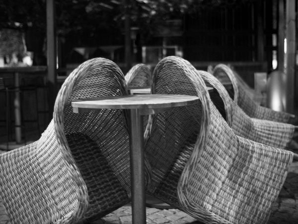 Sleeping chairs 😬 Focus On Foreground Close-up Retail  No People Outdoors Day Shallow Depth Of Field Monochrome Monochrome Photography MonochromePhotography Blackandwhite Black And White Black & White Closed Chair Deck Chairs Deck Chairs In A Row