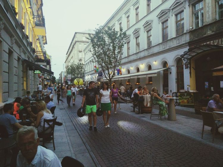Summer Evening In The City Summer In The City Street Nameday