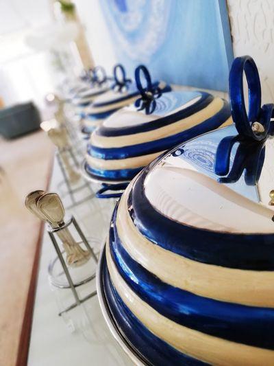 Kitchen utensils on table at buffet