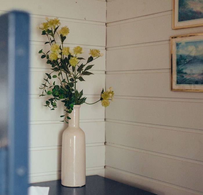Flowers in vase at home