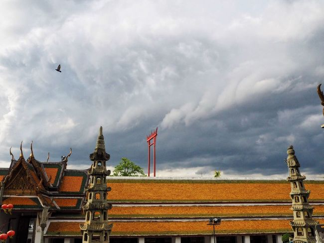 Sky And Clouds Sky Afternoon Sky Bird Temple Thailand