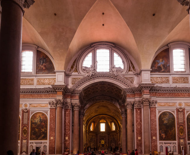 Architecture Arch Built Structure Indoors  Window Architectural Column Building Day The Past History Travel Travel Destinations Ceiling Low Angle View Incidental People Religion Tourism Ornate Luxury Arched