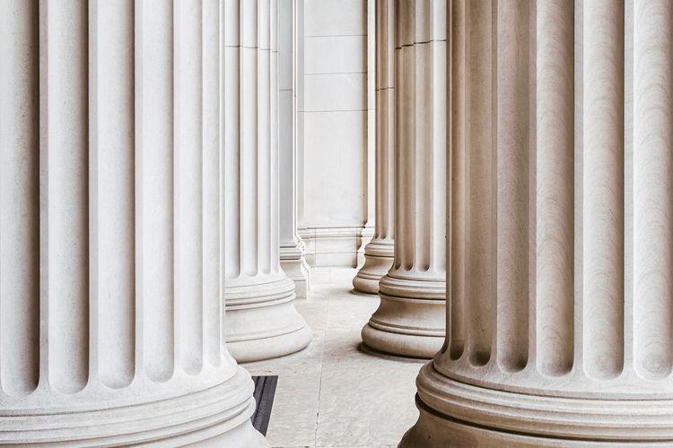 Corridor Amidst Columns
