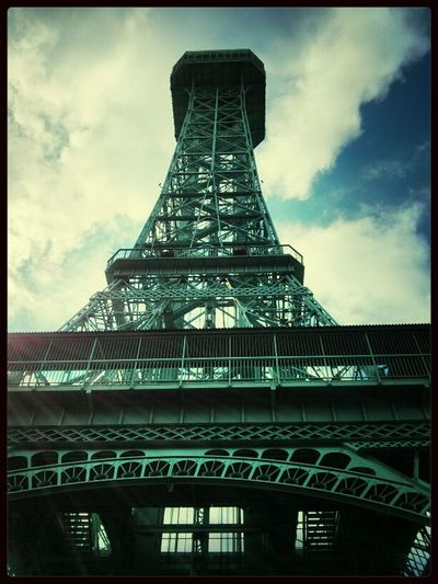 Kings Island's Eiffel Tower is 1/3rd the size of Paris' but still impressive from the bottom. @KingsIslandPR Eiffel Tower Riding Roller Coasters AMPt-Android Kings Island