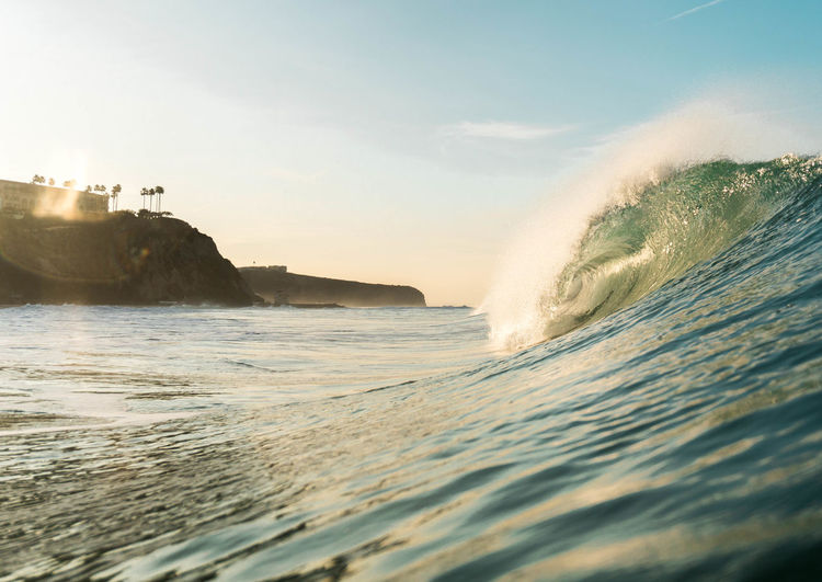 A morning tube Sea Aquatic Sport No People Waterfront Scenics - Nature Nature Splashing Sport Flowing Water Outdoors Breaking Beauty In Nature Beach Power Power In Nature Water Motion Wave Sky Land Day Hitting
