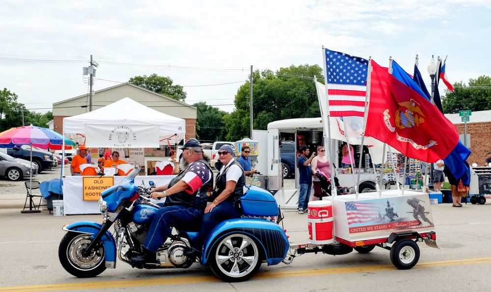 55th Annual National Czech Festival August 5, 2016 Wilber, Nebraska Biker Candid Photography Celebrate Your Ride Color Photography Czech Days Czech Festival Easy Rider Event Flags In The Wind  Fujifilm Fujixseries Life In Color Main Street USA Midday Sunlight Mode Of Transport Motorcycles Multi Colored Nebraska Outdoors Parade Smal Town USA Small Town USA Streetphotography Summertime Wilber, Nebraska