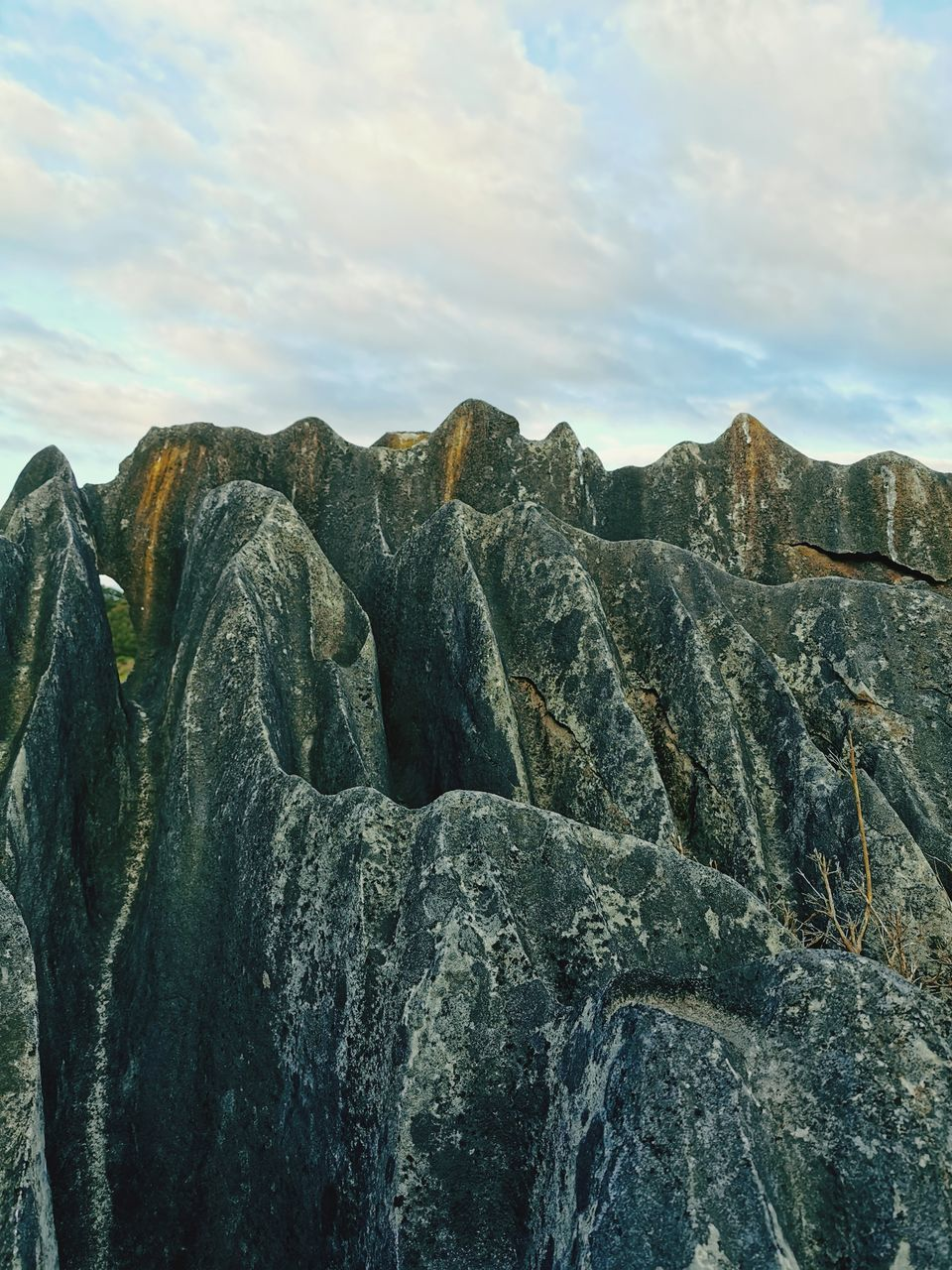 ROCK FORMATIONS AGAINST SKY